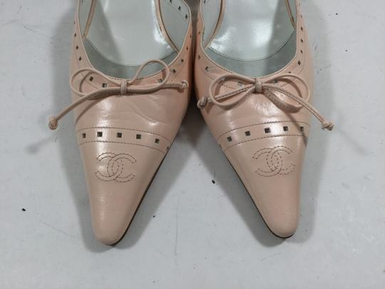 Chanel Light Pointed Toe Pale Pink Mules