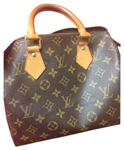 Louis Vuitton Leather Patina Satchel in Brown