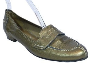 Anyi Lu Metallic Gold Flats