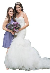 Justin Alexander Ivory / White Tulle and Cotton Lace Eloise / 9769 Modern Wedding Dress Size 6 (S)