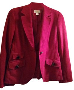 Talbots Fall Wool Jacket Red Blazer