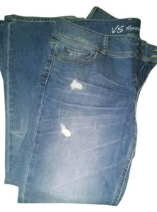 Victoria's Secret Hipster Boot Cut Jeans-Distressed