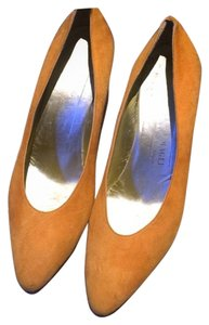 Bruno Magli Suede Light Orange 7b Pumps
