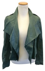 THE WRIGHTS Green Leather Jacket