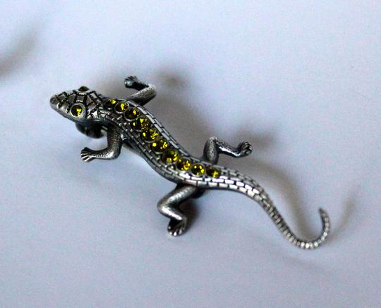 Other Vintage Sterling Marcasite Lizard Brooch and Baby Lizard Brooch
