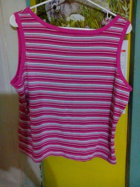 Other Top Different Strips, of Pink etc and White