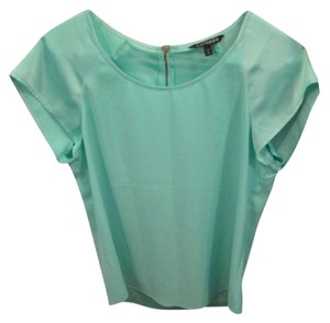Express 8 10 Satin Zip Back Top Green