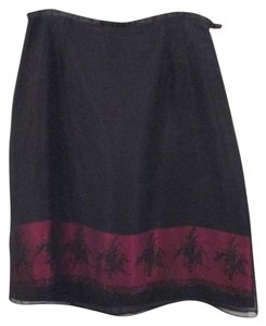 The Limited Skirt Black/Burgundy