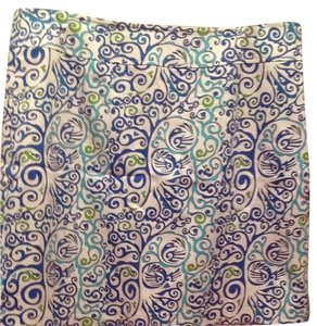Skirtin Around Skirt Blue/white Paisley