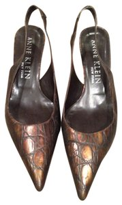 Anne Klein Sling Back Size 8m Brown Pumps