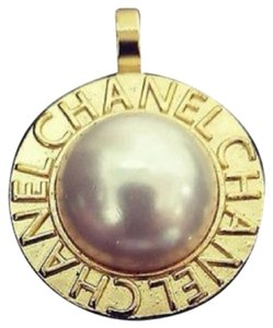 Chanel Chanel Charm Pendant with Faux Pearl Inlay