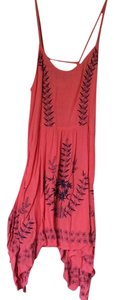 Free People short dress Coral and dark blue on Tradesy
