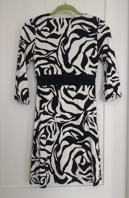 White House | Black Market Silk Abstract Zebra Print Work Going Holiday Club Dress