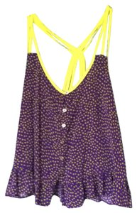 Kirra Top Purple and lime green