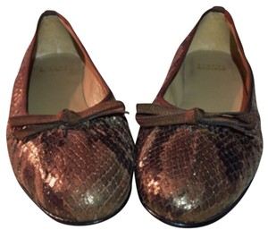 Stuart Weitzman Dark Brown, Brown, Gold, Flats