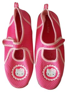 Hello Kitty Hello Kitty Pink Polka Dot Aqua Fabric Beach Shoes Size 4/5