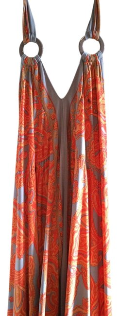 orange pattern Maxi Dress by INC International Concepts