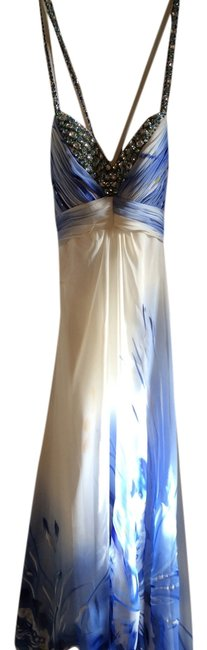 Preload https://item5.tradesy.com/images/cache-dress-blue-and-white-5538139-0-0.jpg?width=400&height=650