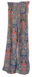 Uk2la Flare Floral Fun Dinner Festive Relax Fit Blue Red Yellow Full Length Long Sexy Summer Fall Spring Winter Relaxed Pants