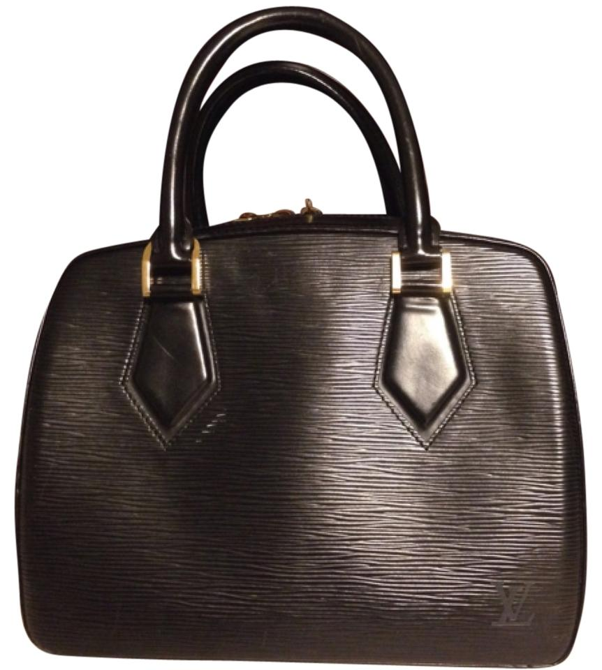 louis vuitton sale lv black epi leather satchel satchels on sale. Black Bedroom Furniture Sets. Home Design Ideas