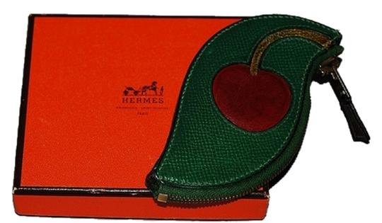 Hermès Authentic Hermes Vintage Fruit Coin Purse Cherry Highly Collectible Rare Accessory