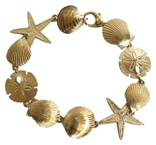Preload https://item4.tradesy.com/images/gold-14k-starfish-and-sand-dollar-nautical-bracelet-5538943-0-0.jpg?width=440&height=440