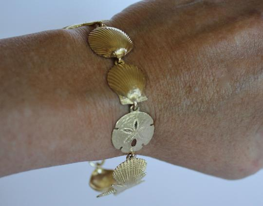 Other 14K Gold Starfish and Sand Dollar Nautical Bracelet