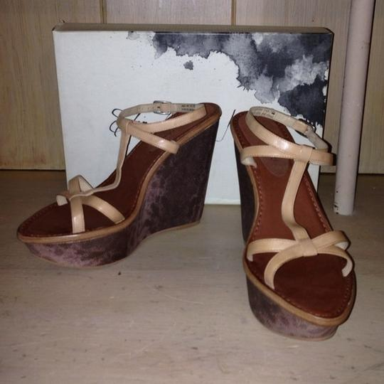 Elizabeth and James Wedge Heel Strap Hazel & multi Sandals