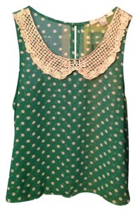 Forever 21 Top Green and cream