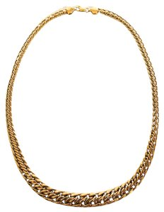 14K Gold Tapered Woven Chain Necklace, 16