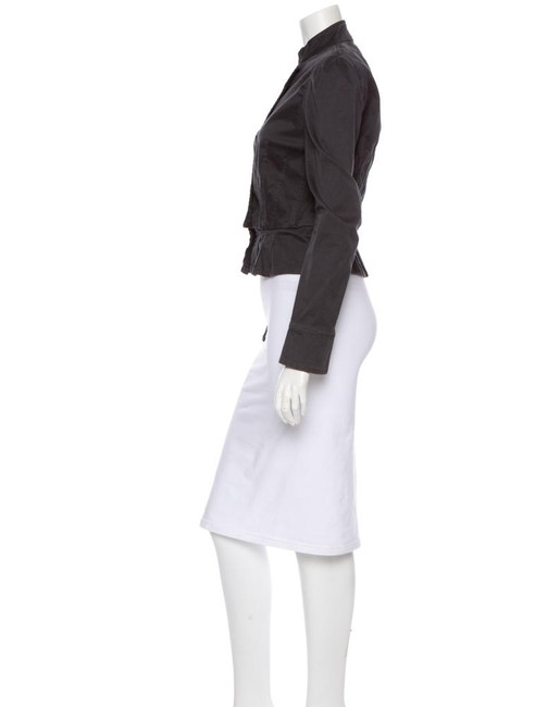 Marc by Marc Jacobs Equestrian Military Button Up Peplum Charcoal Grey Jacket