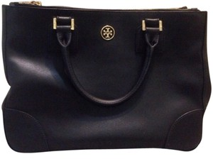 Tory Burch Robinson Large Tote in Black
