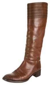 Jil Sander Riding Boot Stitched Spanish Brown Boots