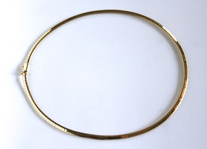 Omega 14K Solid Gold Omega Necklace