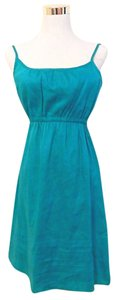 Theory short dress Teal Spaghetti Strap A-line Flare on Tradesy