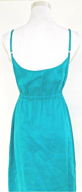 Theory short dress Teal Spaghetti Strap A-line Flare Cotton on Tradesy