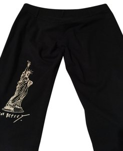 Betsey Johnson Nyc Statue Of Liberty Xoxo Betsey 90s Classic Capris Black