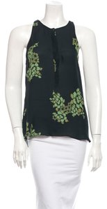 A.L.C. Floral Graphic Print Top Black & Green
