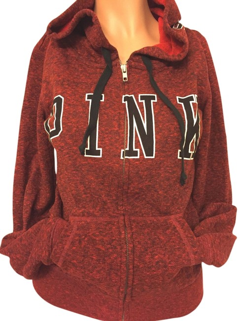 PINK Red/Marled XS Victoria's Secret Perfect Red/Marled Xsmall Sweatshirt/Hoodie Size Petite 2 (XS) PINK Red/Marled XS Victoria's Secret Perfect Red/Marled Xsmall Sweatshirt/Hoodie Size Petite 2 (XS) Image 1