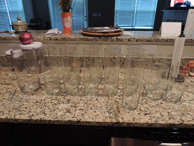 Glass Vases For Centerpieces And Wedding Party Bouquets