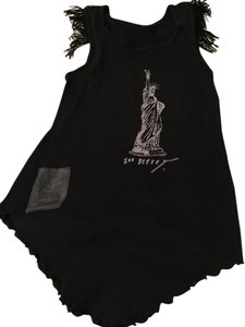 Betsey Johnson Nyc Statue Of Liberty Xoxo Betsey 90s Classic Top Black