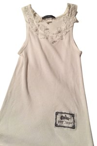 Betsey Johnson 90's Small Classic Vintage Labels Top White