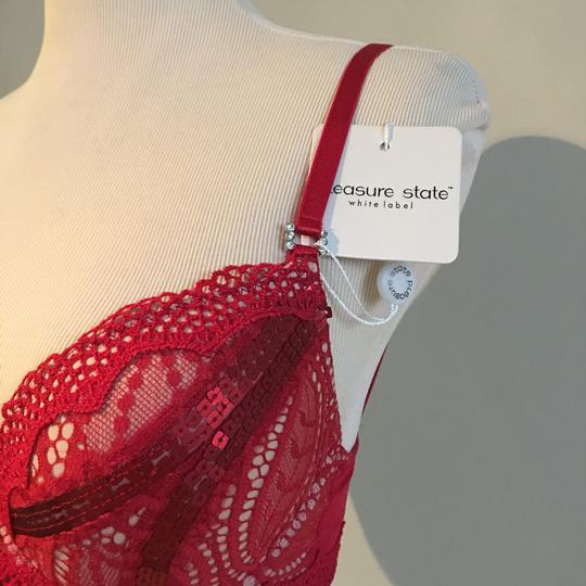 pleasant state NEW RED BRA pleasure state white label 32C