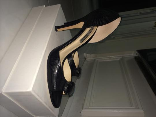 Anne Klein The Material A Stone In The Front Very Pretty And Sexy Black reptile print Pumps