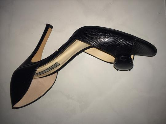 Anne Klein The Material Is Has A Stone In The Front Very Pretty And Sexy Black reptile print Pumps