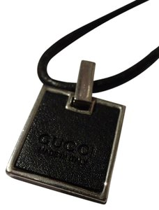 Gucci Men's Gucci Leather Pendant Necklace
