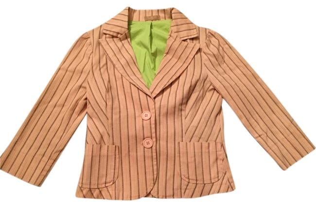 Forever 21 Work Fun Stripes New Nwot Pink Blazer