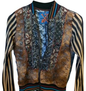 WooXoom Lace Paris Sheer multi colored Jacket