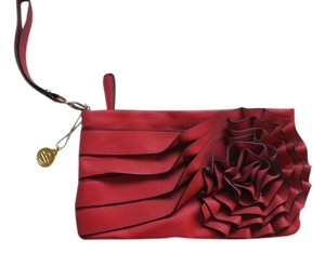 Big Buddha Wristlet in Red, champagne interior