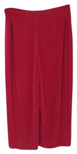 Chico's Slinky Gauchos Wide Leg Capris Red